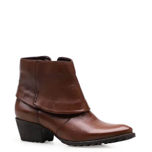 Bota Feminina Ankle Boot Gola – Couro Pelica Marrom